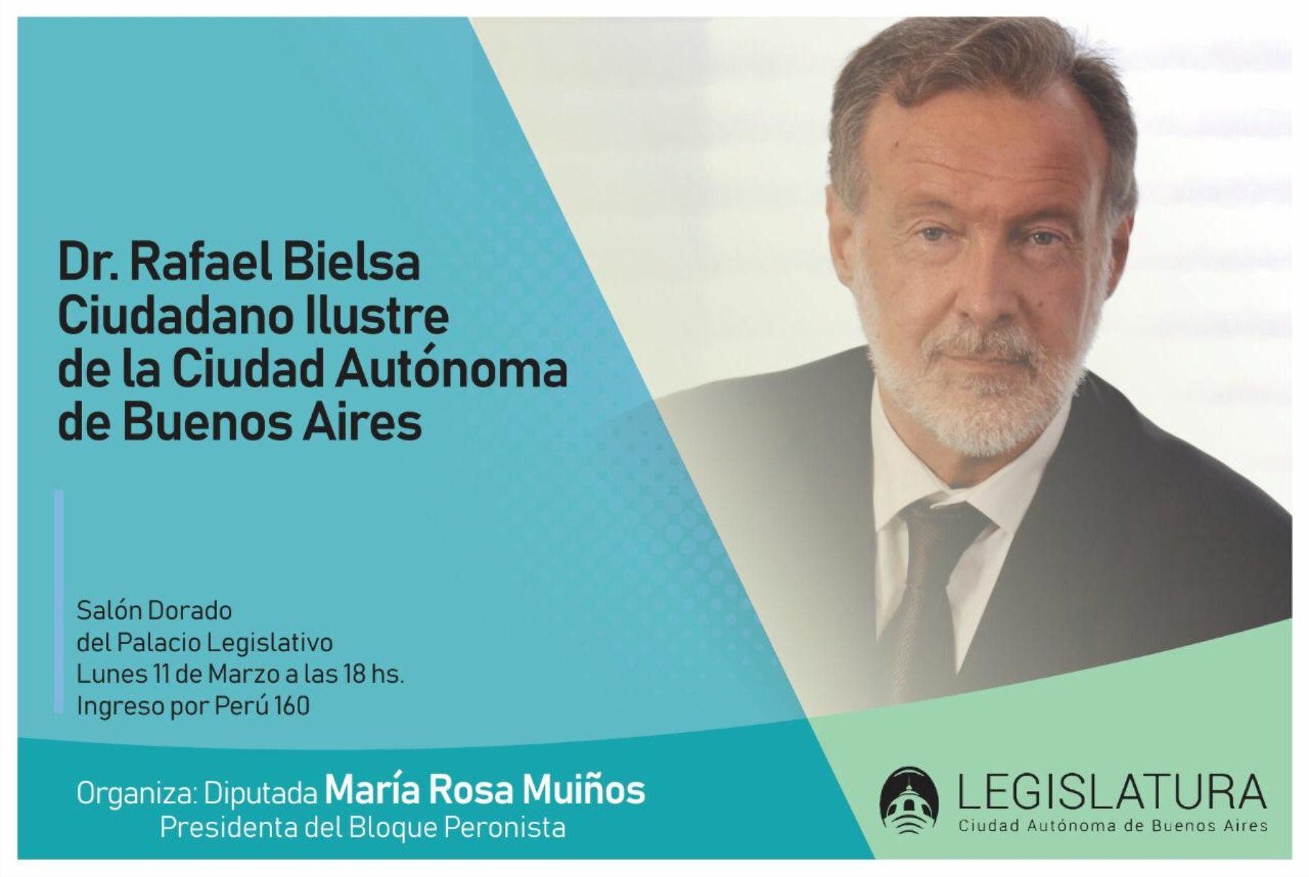 Dr. Rafael Bielsa. Ciudadano Ilustre de la Ciudad Autónoma de Buenos Aires.