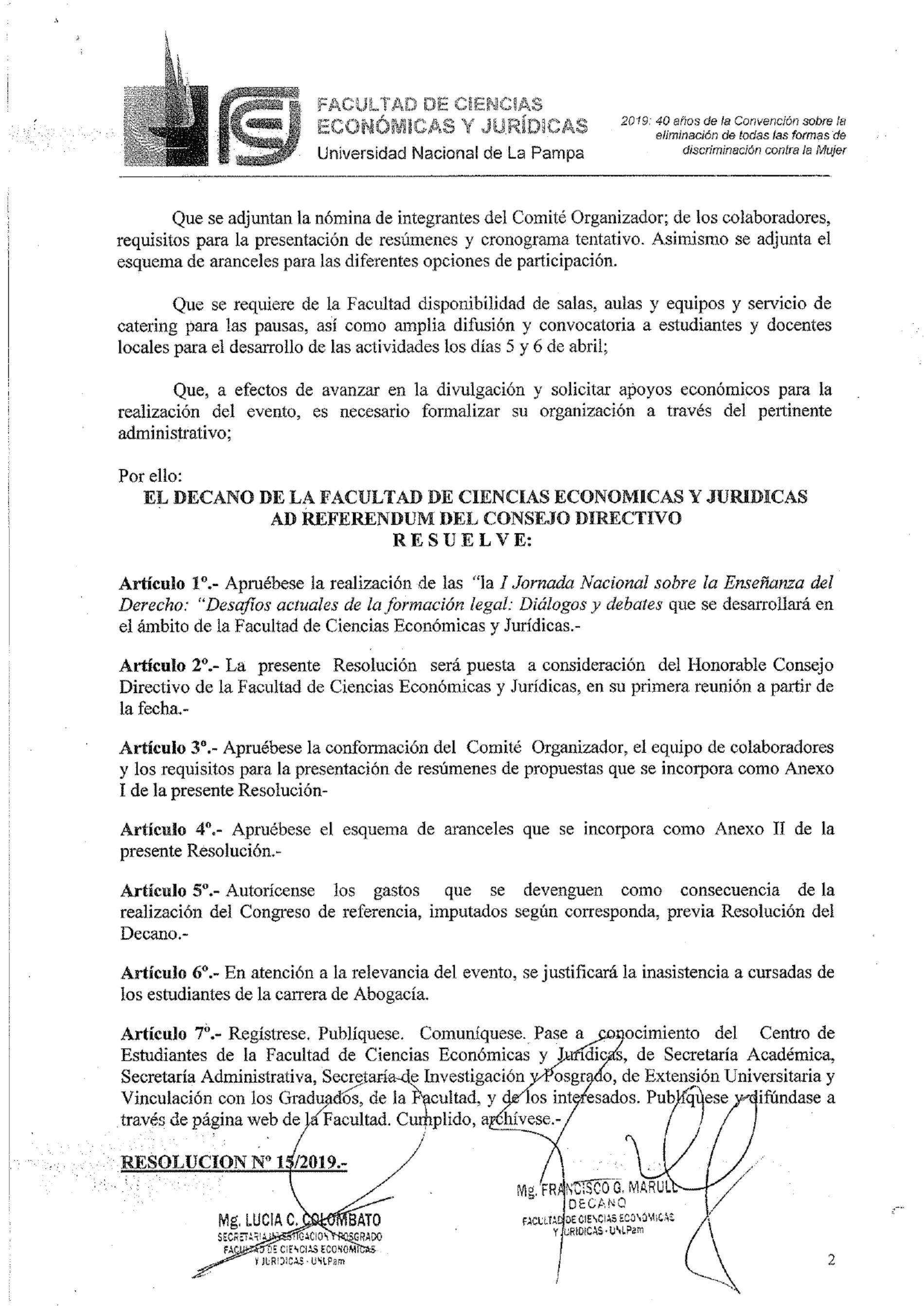 I JORNADA NACIONAL SOBRE LA ENSEÑANZA DEL DERECHO