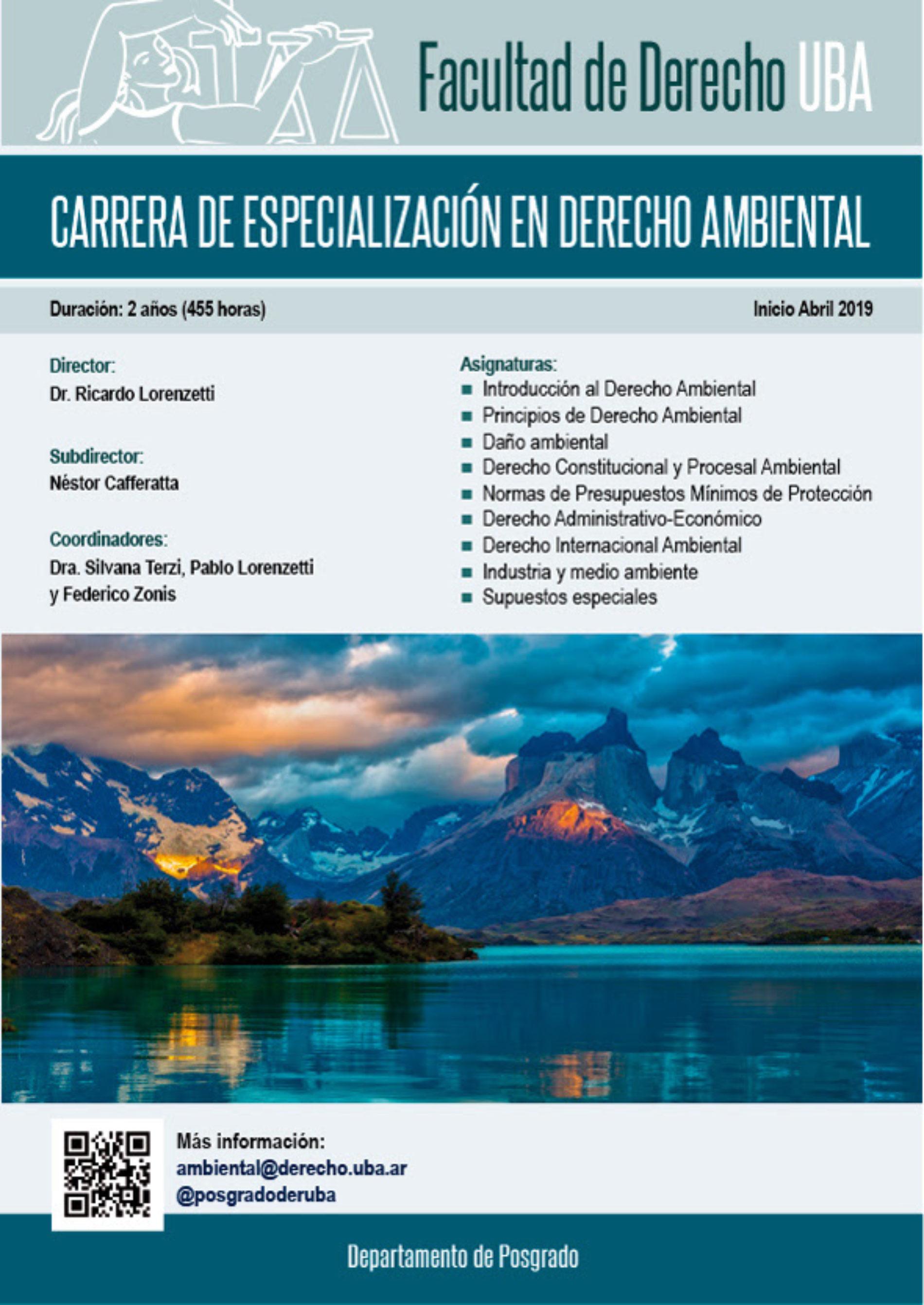 «Carrera de Especialización en Derecho Ambiental»
