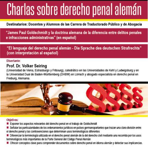 """""""CHARLAS SOBRE DERECHO PENAL ALEMÁN"""""""