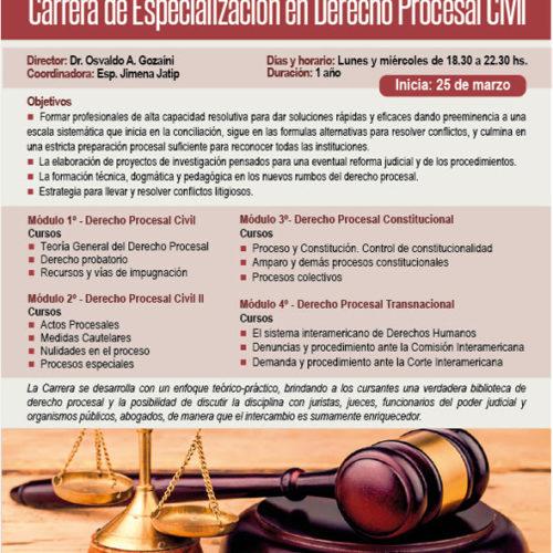 """""""Carrera de Especialización en Derecho Procesal Civil"""""""