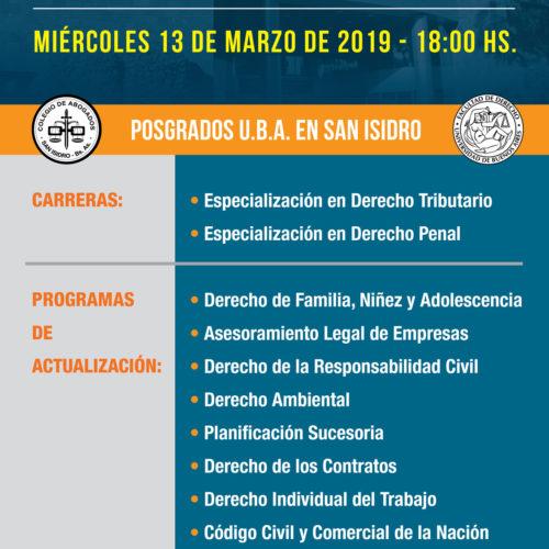 Reuniones informativas. Apertura del año académico -Posgrados U.B.A en San Isidro-