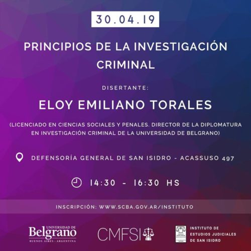 «Principios de la investigación criminal»