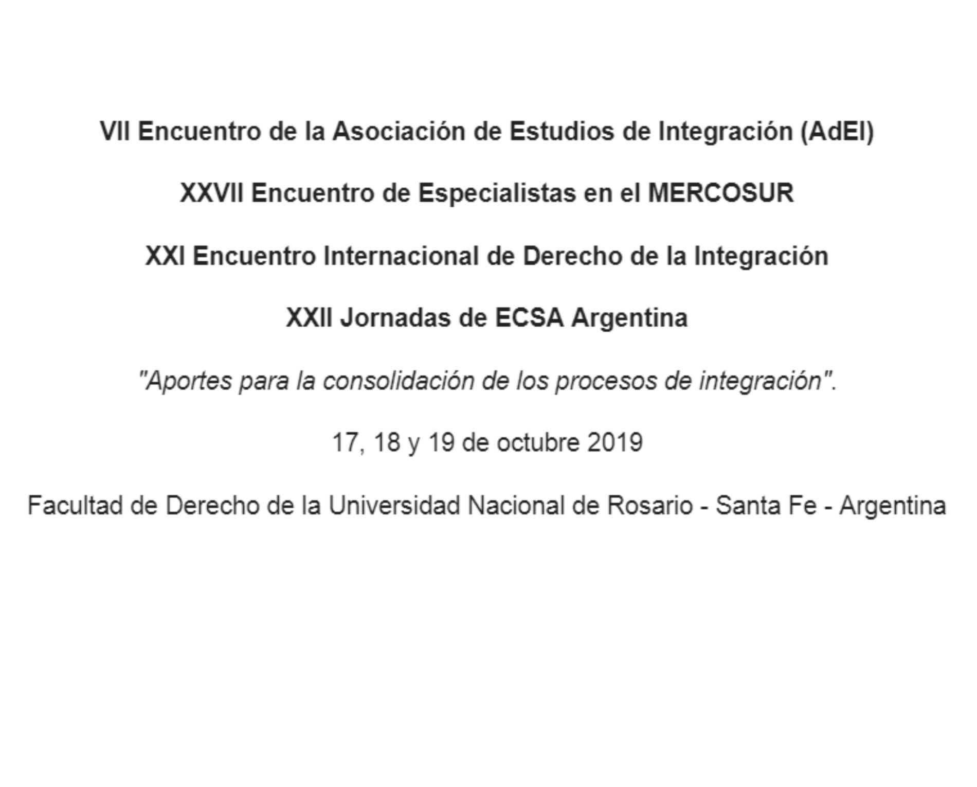 «ENCUENTROS 2019» – Asociación de Estudios de Integración (AdEI)