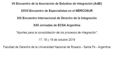"""""""ENCUENTROS 2019"""" – Asociación de Estudios de Integración (AdEI)"""