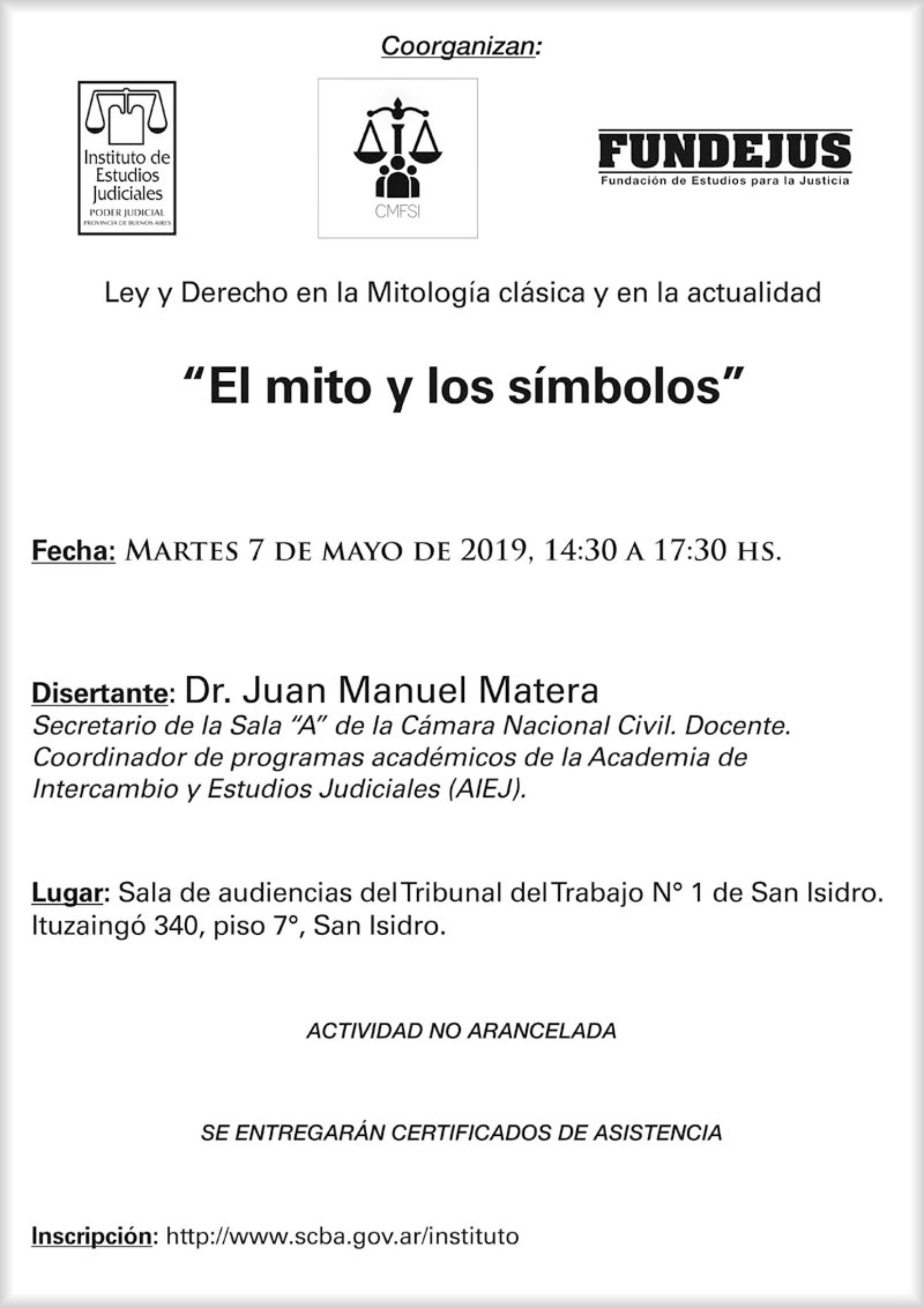 Ley y Derecho en la Mitología clásica y en la actualidad: «EL MITO Y LOS SÍMBOLOS»