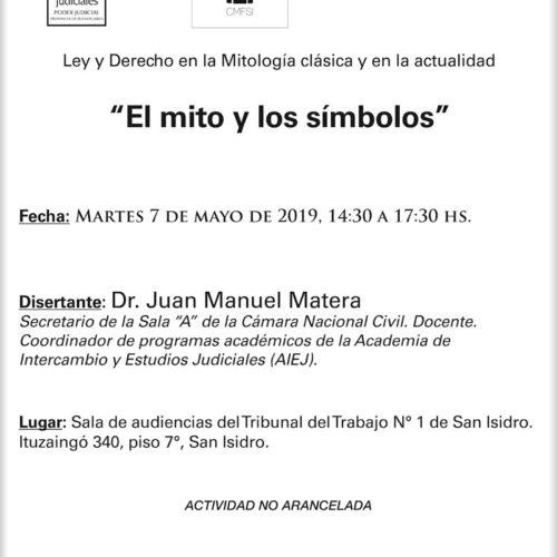"""Ley y Derecho en la Mitología clásica y en la actualidad: """"EL MITO Y LOS SÍMBOLOS"""""""