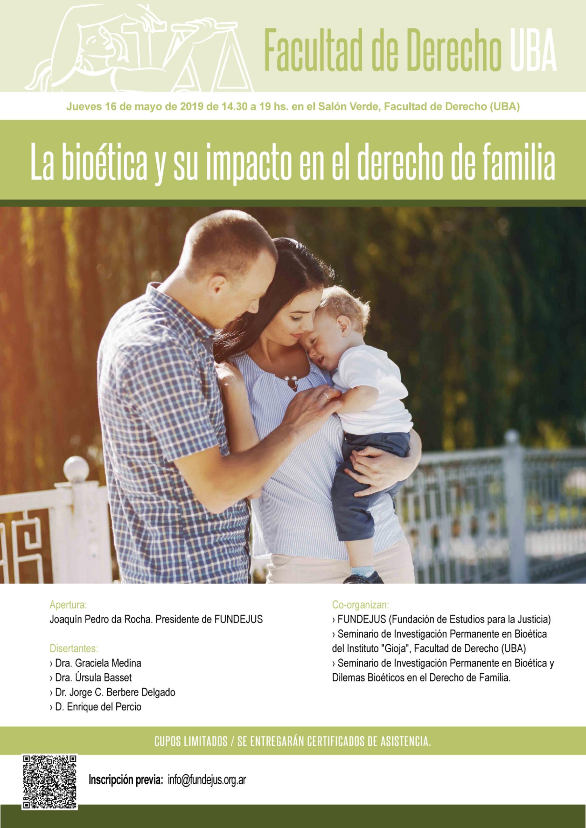 """JORNADA DE ACTUALIZACIÓN: """"La bioética y su impacto en el derecho de familia""""."""