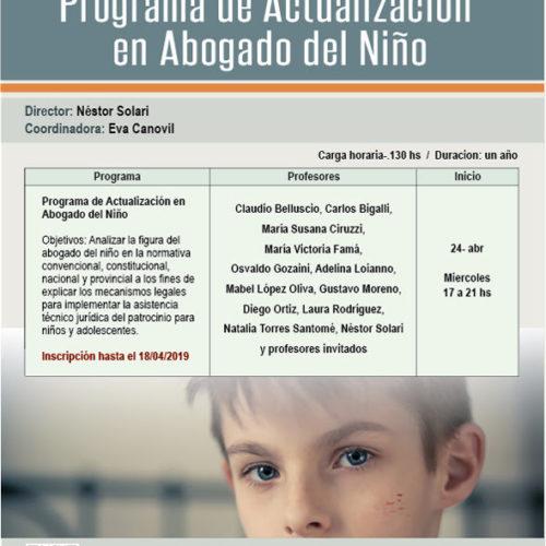 Programa de actualización en Abogado del Niño.
