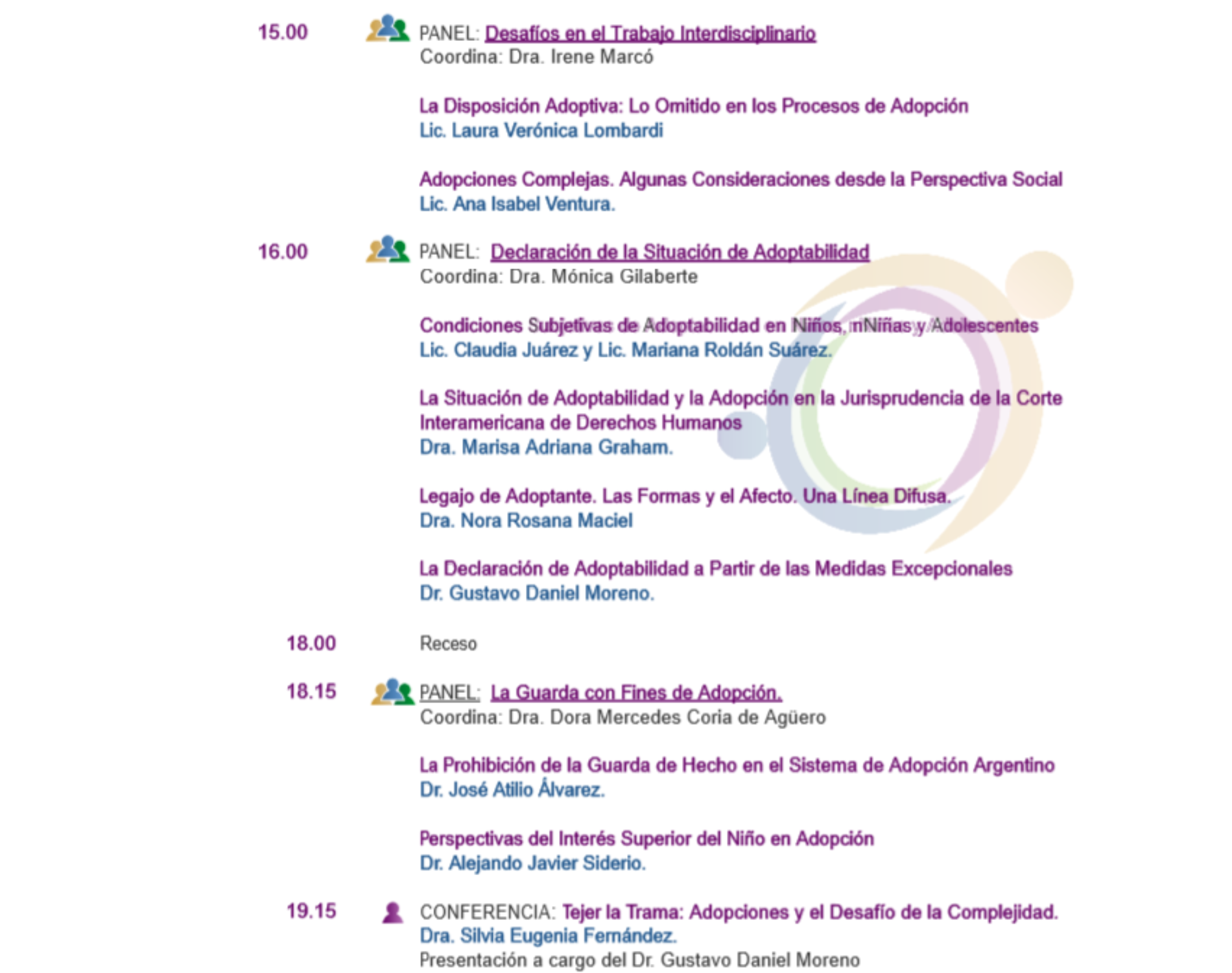 «Jornadas Nacionales de Adopción»