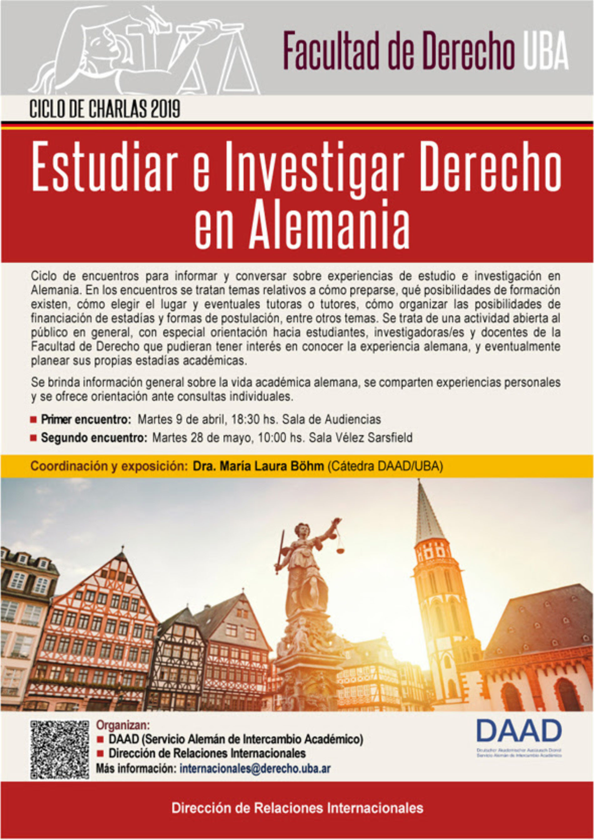 Ciclo de charlas «Estudiar e investigar Derecho en Alemania»