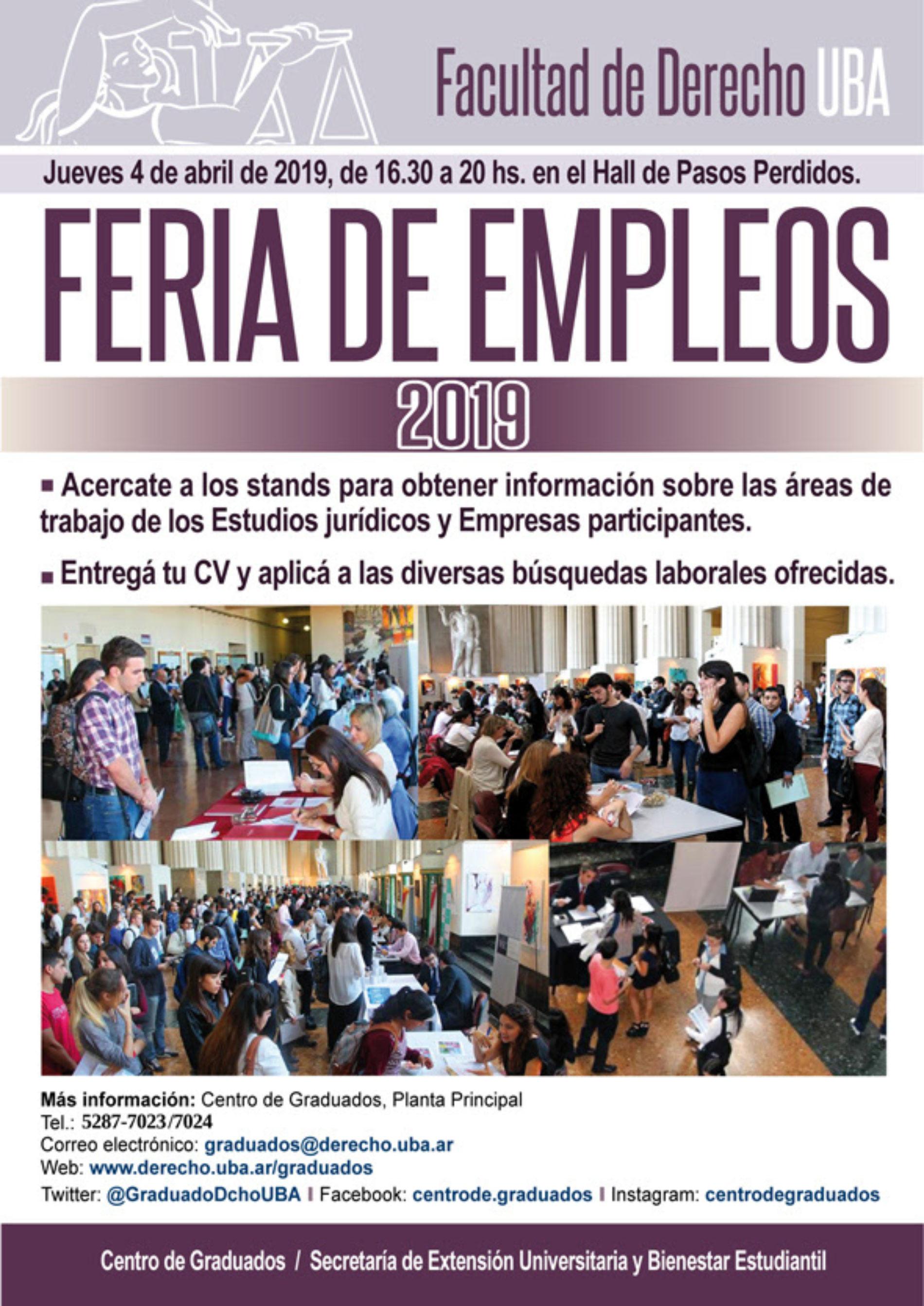 FERIA DE EMPLEOS 2019.