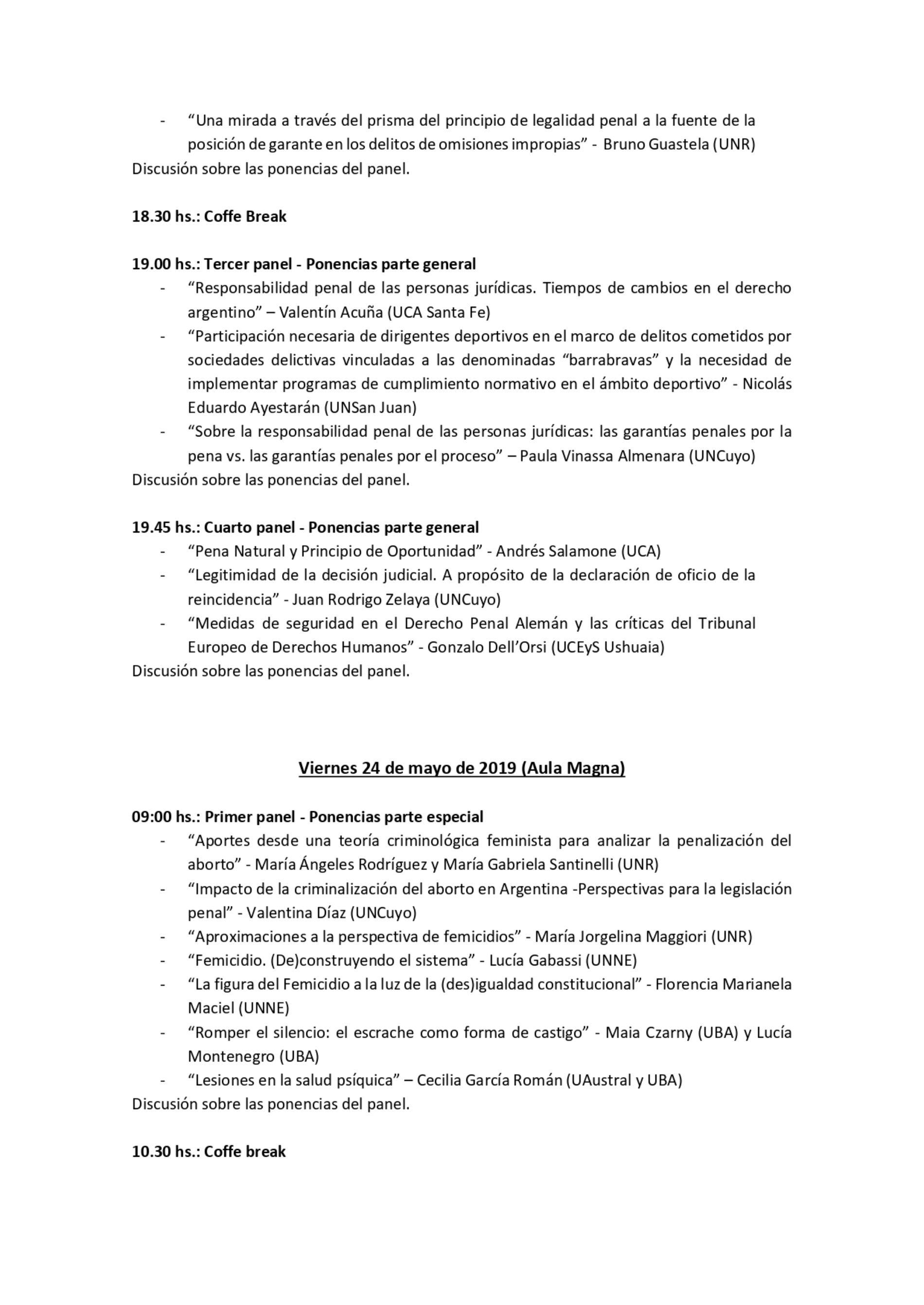 «VI Encuentro Jóvenes Penalistas AAPDP»