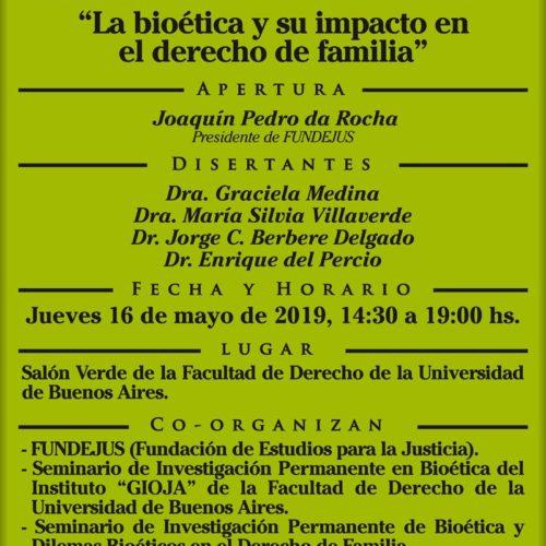 JORNADA DE ACTUALIZACIÓN: «La bioética y su impacto en el derecho de familia».