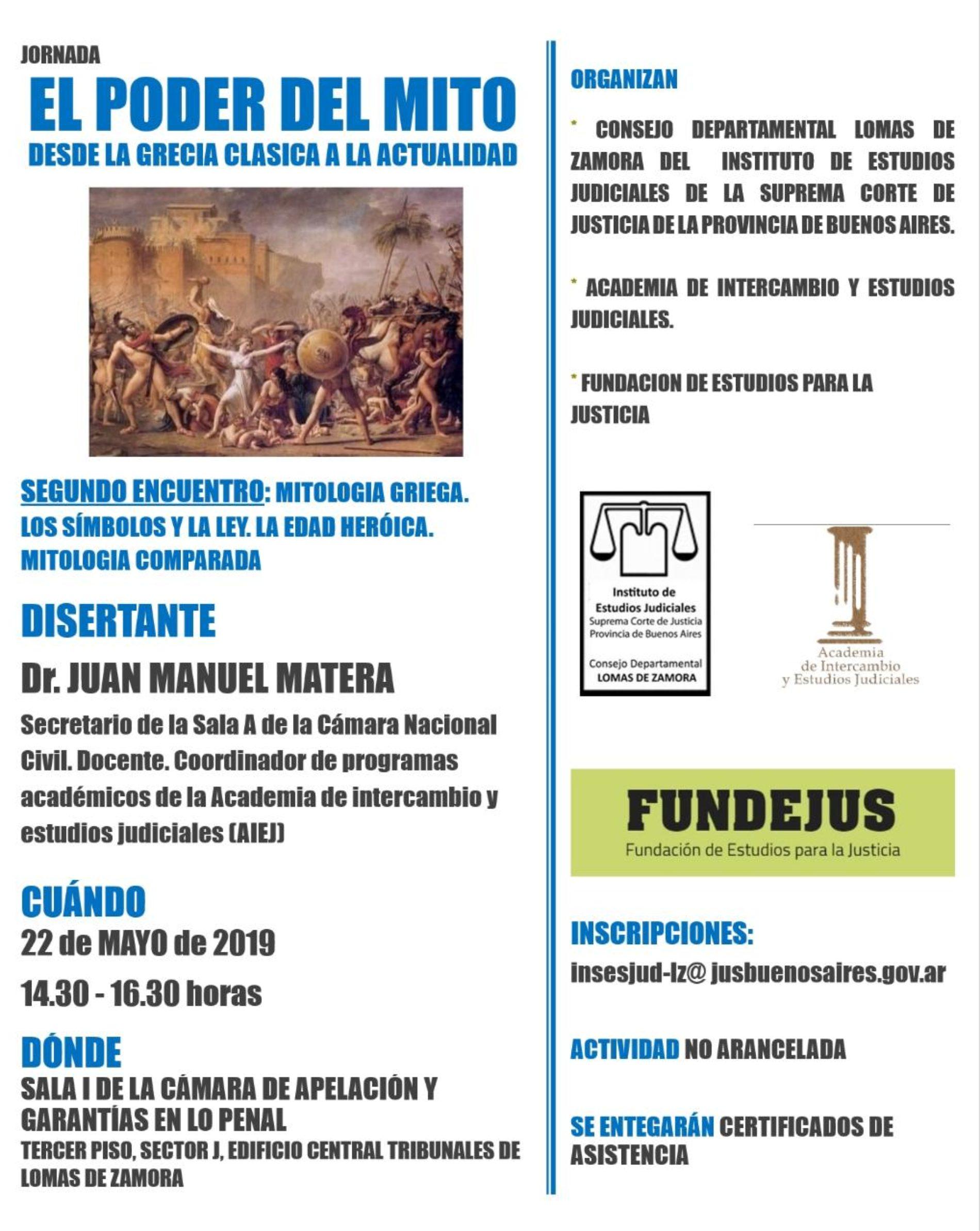 «EL PODER DEL MITO. DESDE LA GRECIA CLÁSICA HASTA LA ACTUALIDAD»