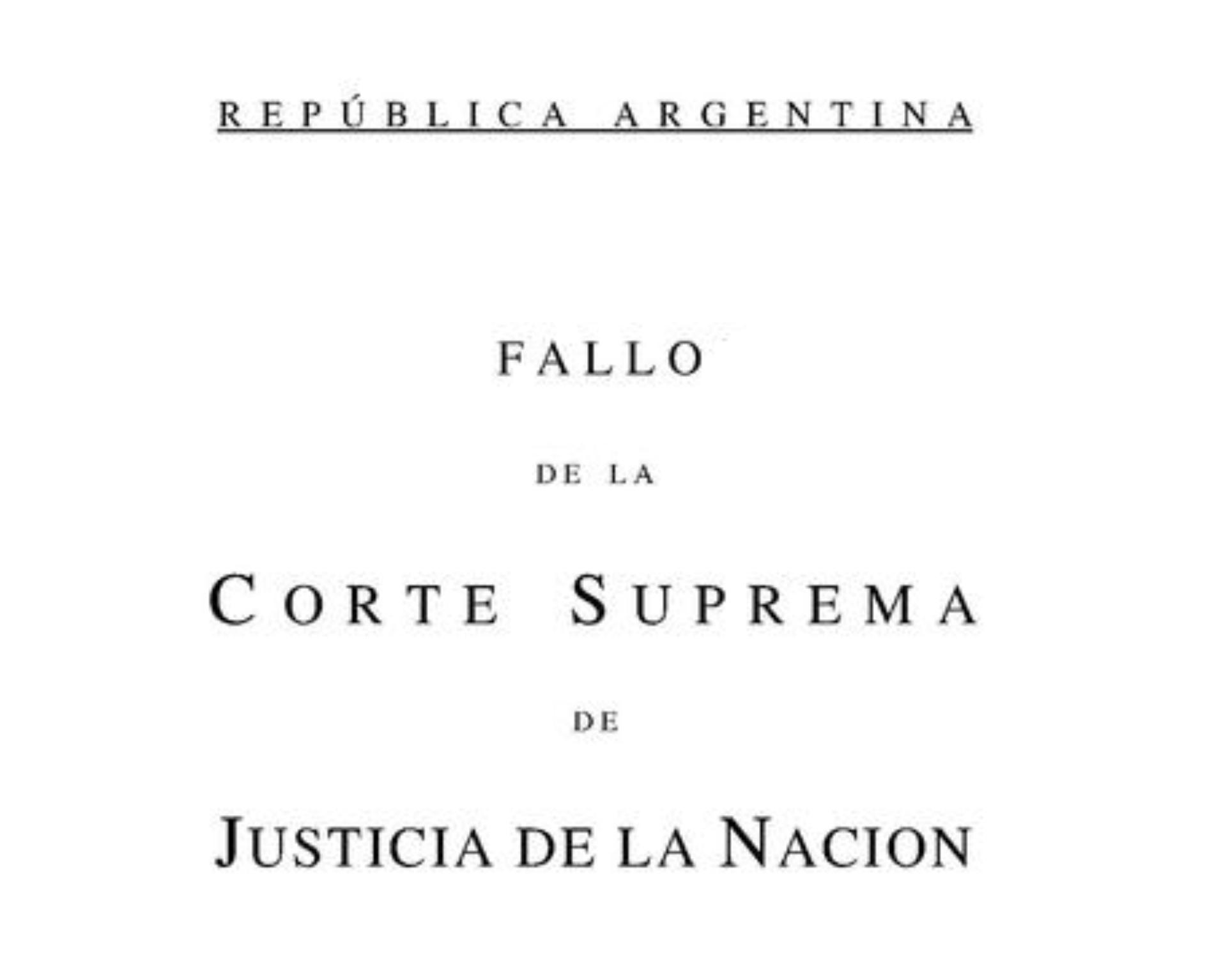 NOVEDAD: Fallo C.S.J.N. s/ juicio por jurados