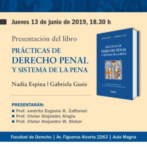 Invitación a la presentación del libro «Prácticas de Derecho Penal y Sistema de la Pena».