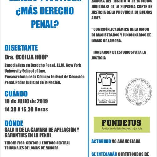 «Género y Justicia ¿Más Derecho Penal?»