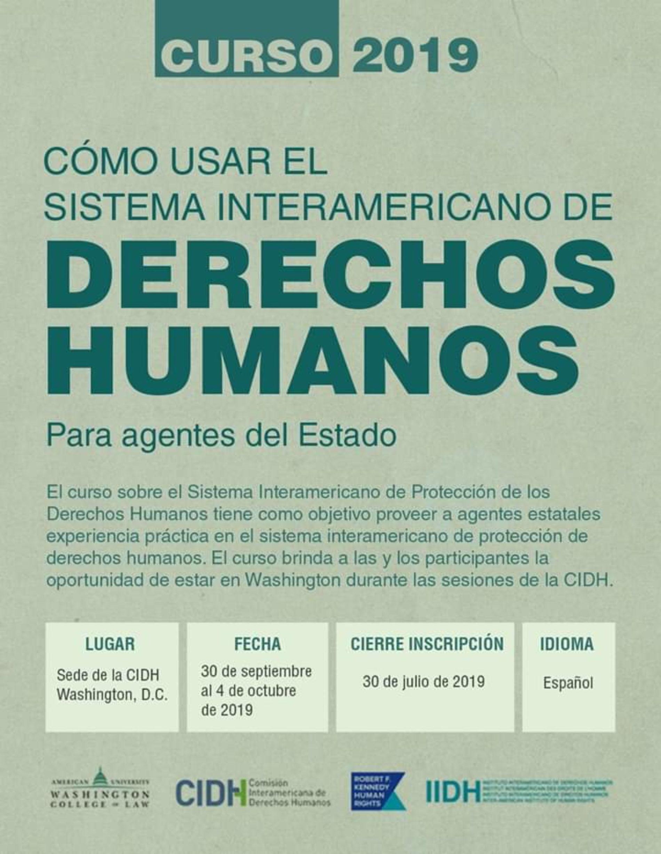 «Cómo usar el Sistema Interamericano de Derechos Humanos. Para agentes del Estado»