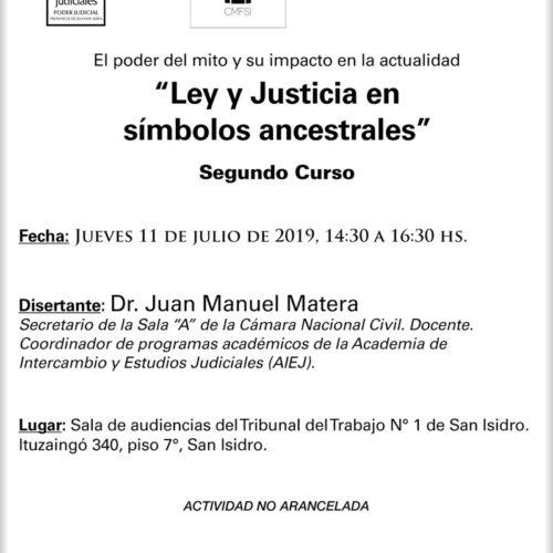 El poder del mito y su impacto en la actualidad «Ley y Justicia en símbolos ancestrales»  -segundo curso-