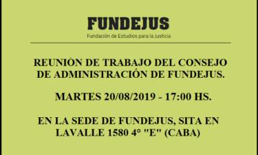 PRÓXIMA REUNIÓN DE TRABAJO DEL CONSEJO DE ADMINISTRACIÓN.