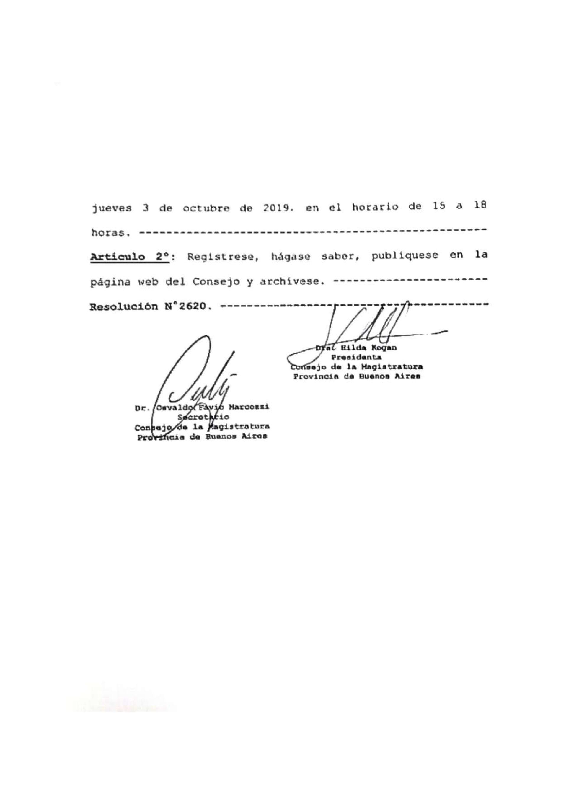 Mesa de Debate «Panorama de la Justicia penal actual»: Declaración de interés del Consejo de la Magistratura de la Provincia de Buenos Aires