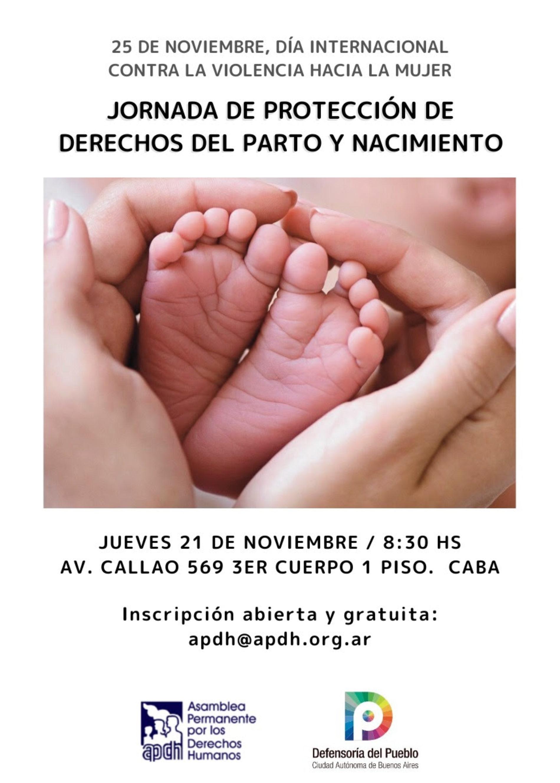 «Jornada de Protección de Derechos del Parto y Nacimiento»