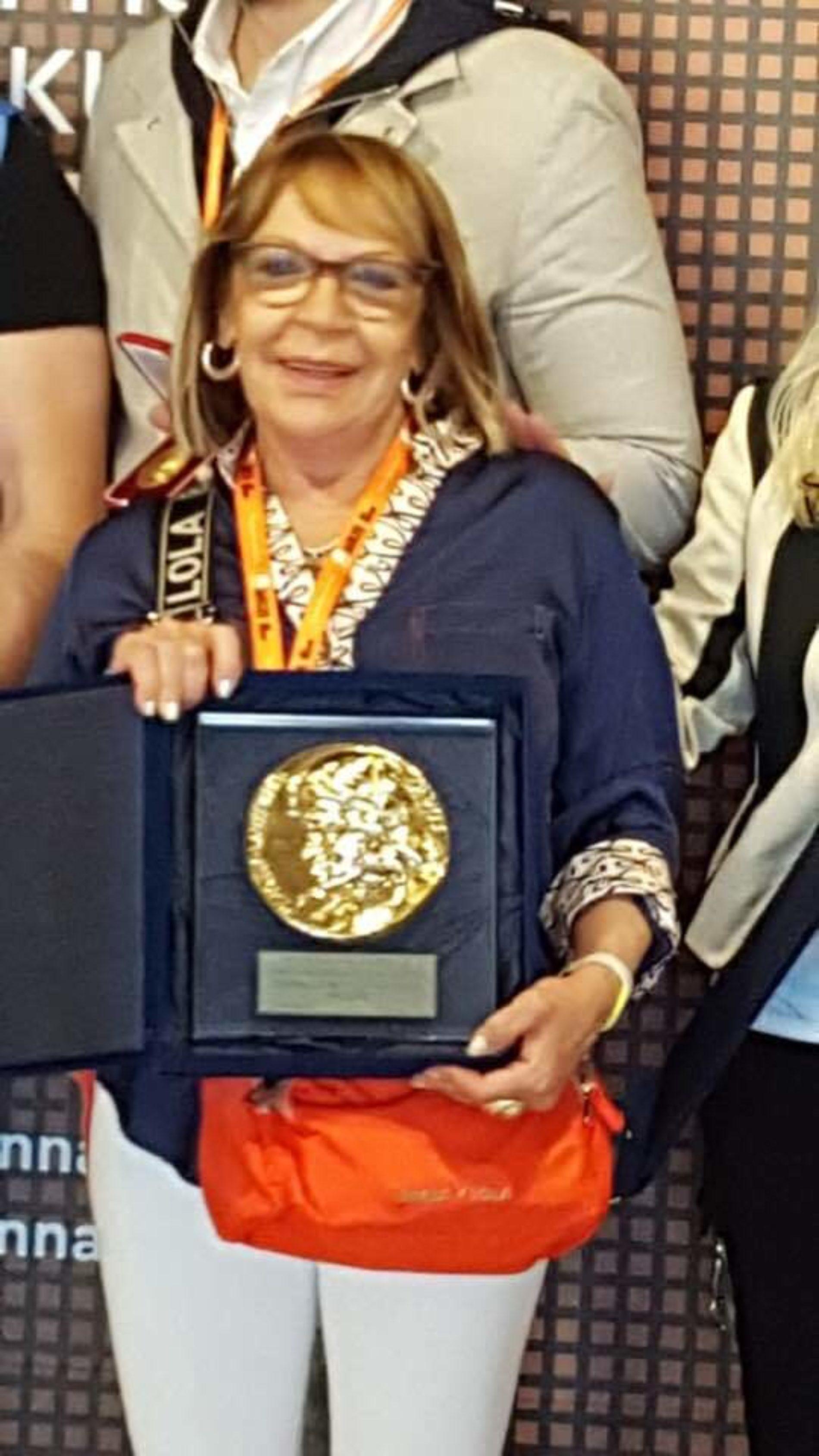Marta Pérez Temperley, medalla de oro en la Bienal 2019.