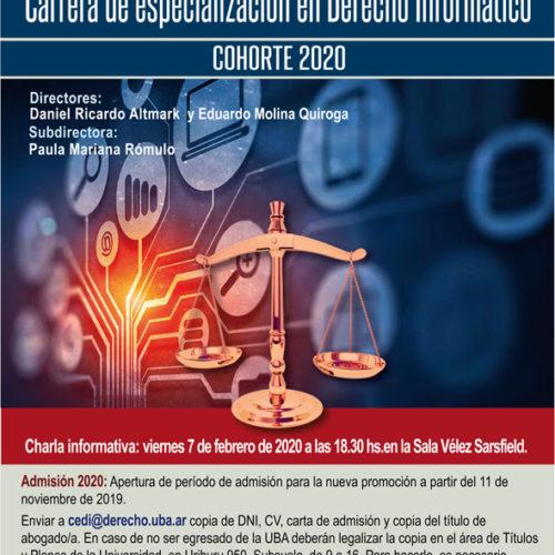 «Charla informativa de la Carrera de especialización en Derecho Informático»