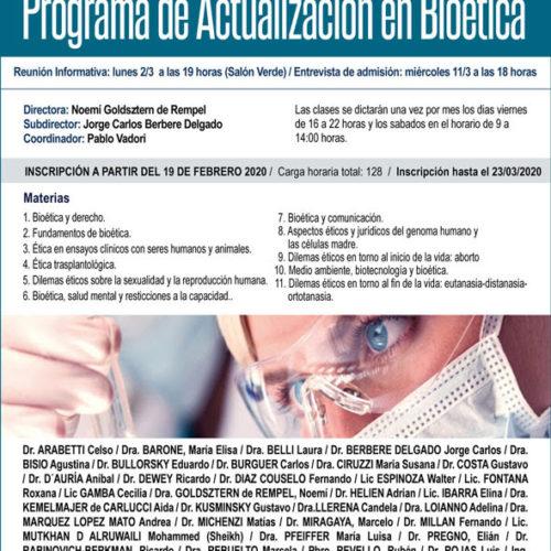 «Charla informativa del Programa de actualización en Bioética»