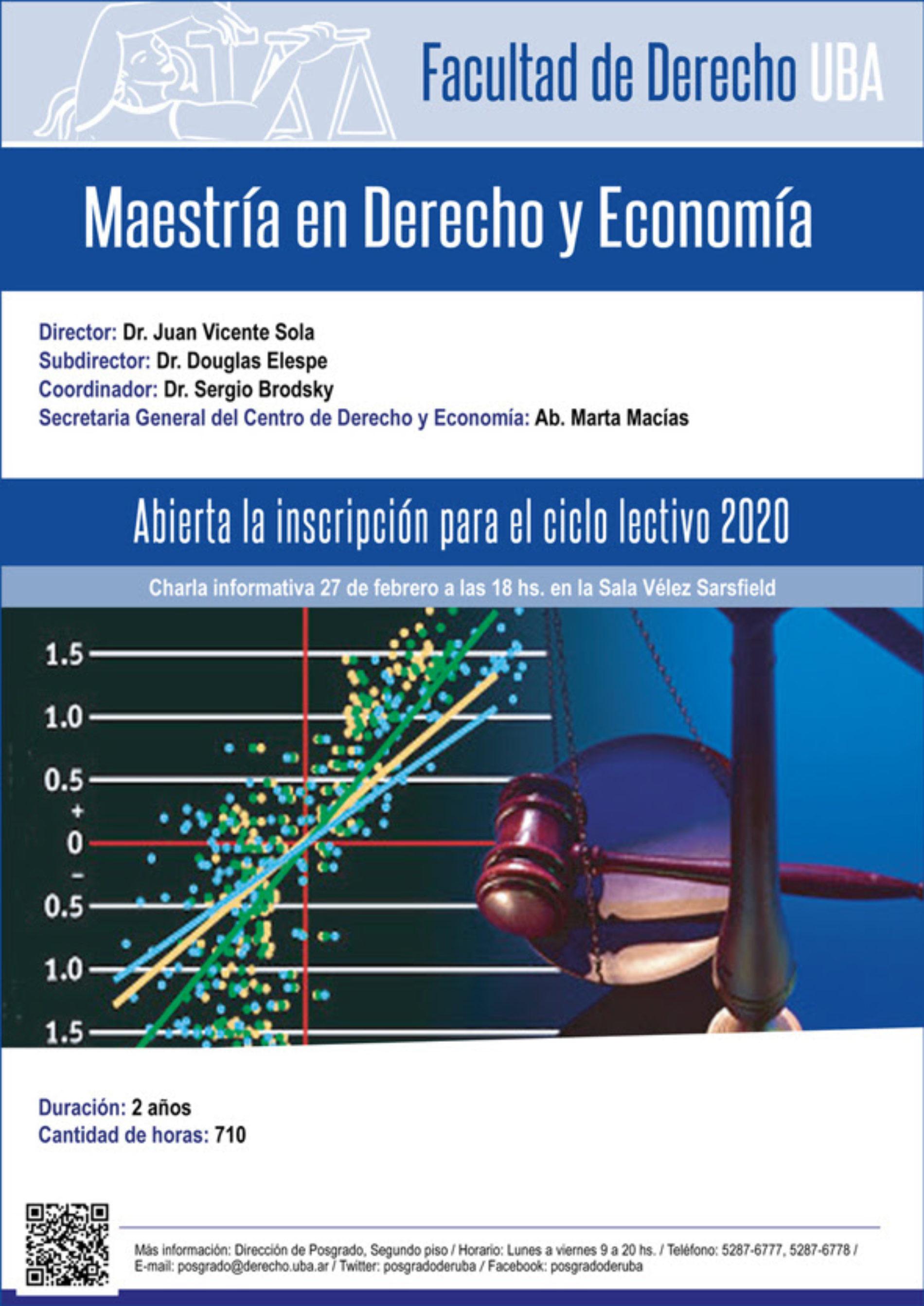 «Charla informativa de la Maestría en Derecho y Economía»