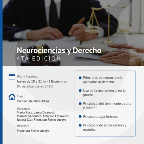 Workshop Jurídico «Neurociencias y Derecho»