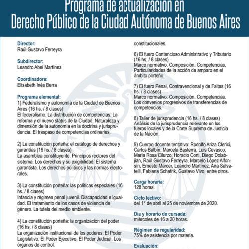 «Programa de actualización en Derecho Público de la Ciudad Autónoma de Buenos Aires»