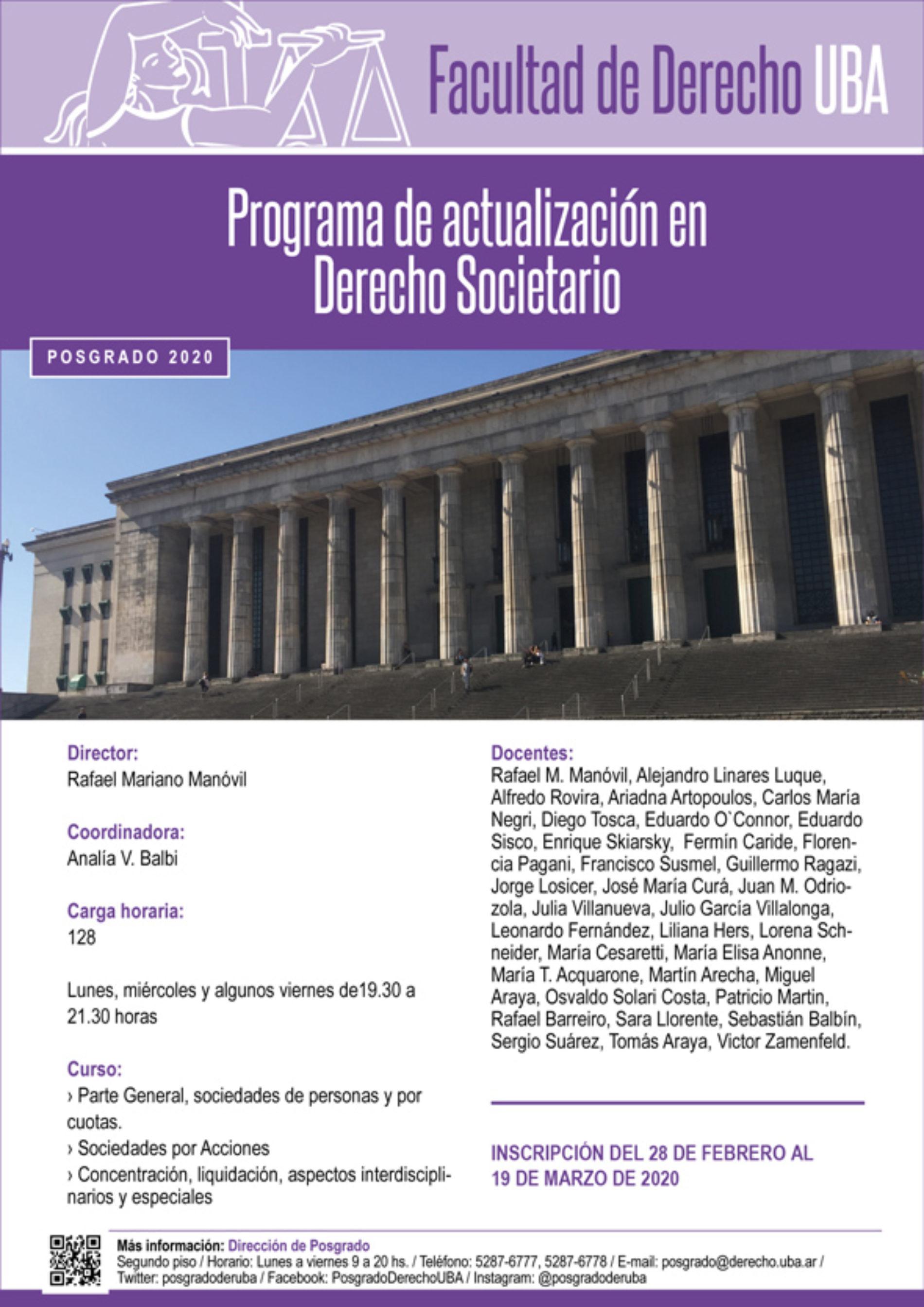 «Programa de actualización en Derecho Societario»