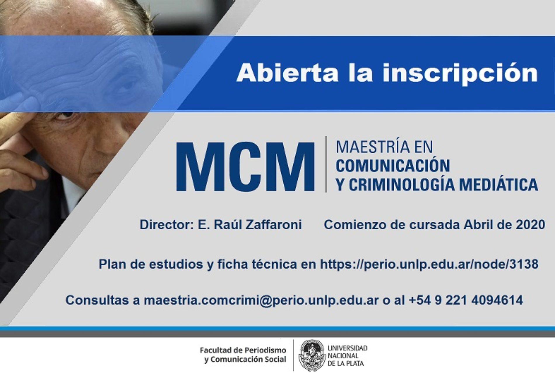«Maestría en Comunicación y Criminología Mediática»