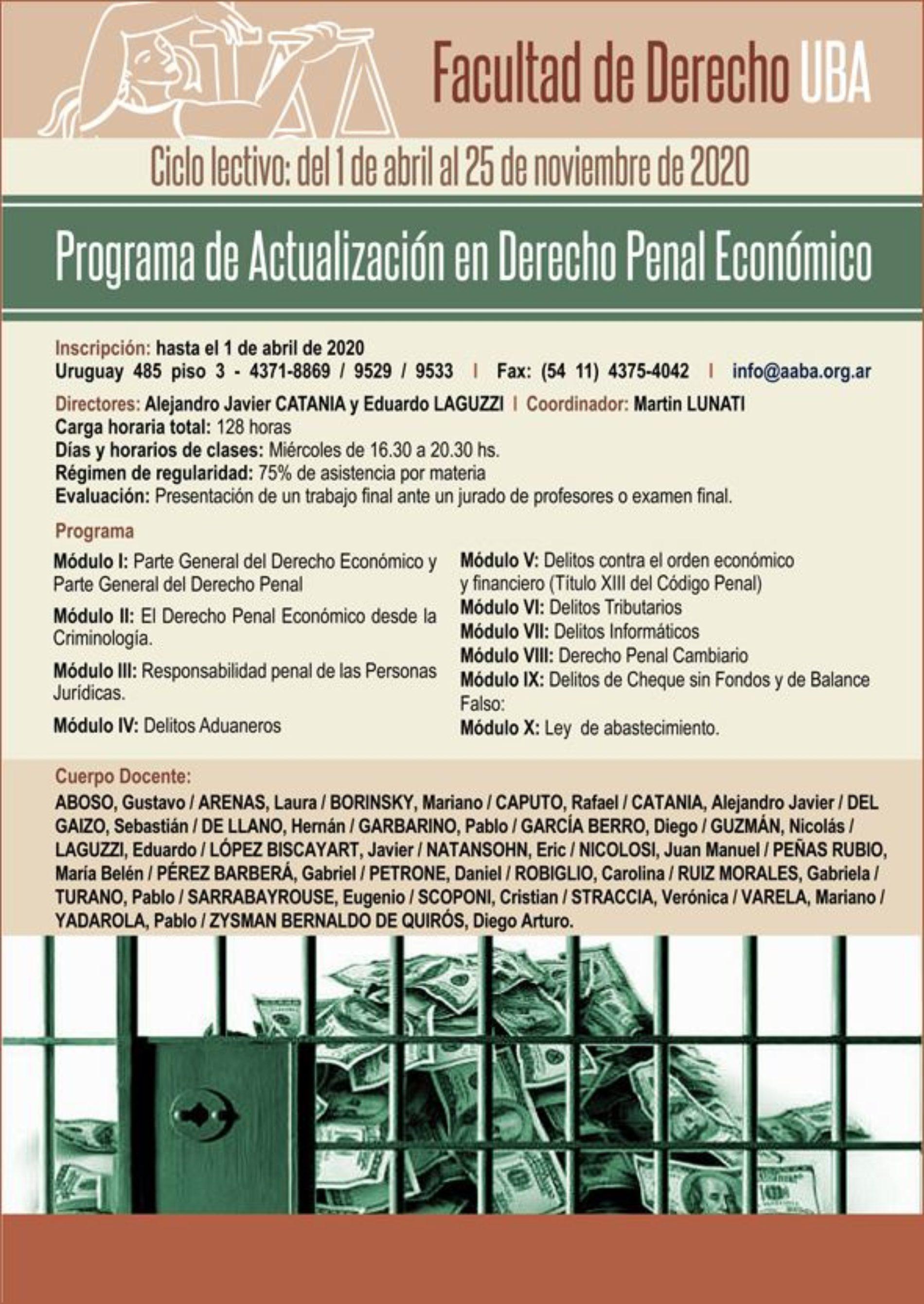 «Programa de Actualización en Derecho Penal Económico»