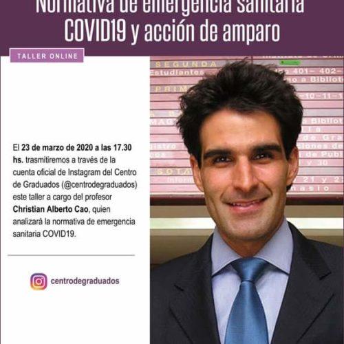 Taller online sobre Normativas de emergencia sanitaria COVID19 y acción de amparo.
