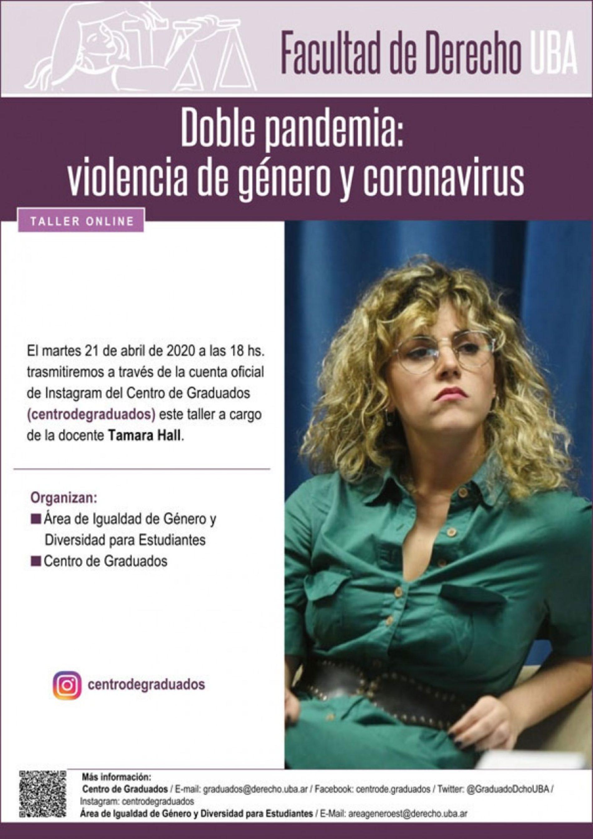 Taller online «Doble pandemia: violencia de género y coronavirus»