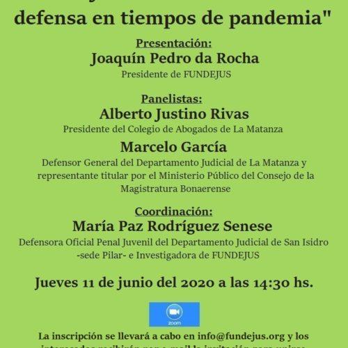«El ejercicio del derecho de defensa en tiempos de pandemia»
