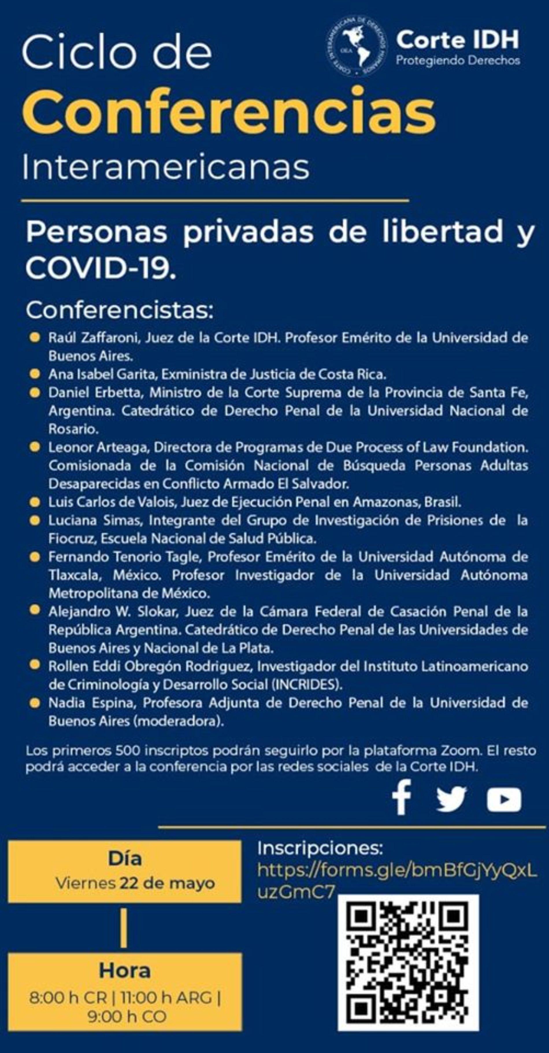 «Ciclo de Conferencias Interamericanas». Organizadas por la Corte Interamericana de Derechos Humanos