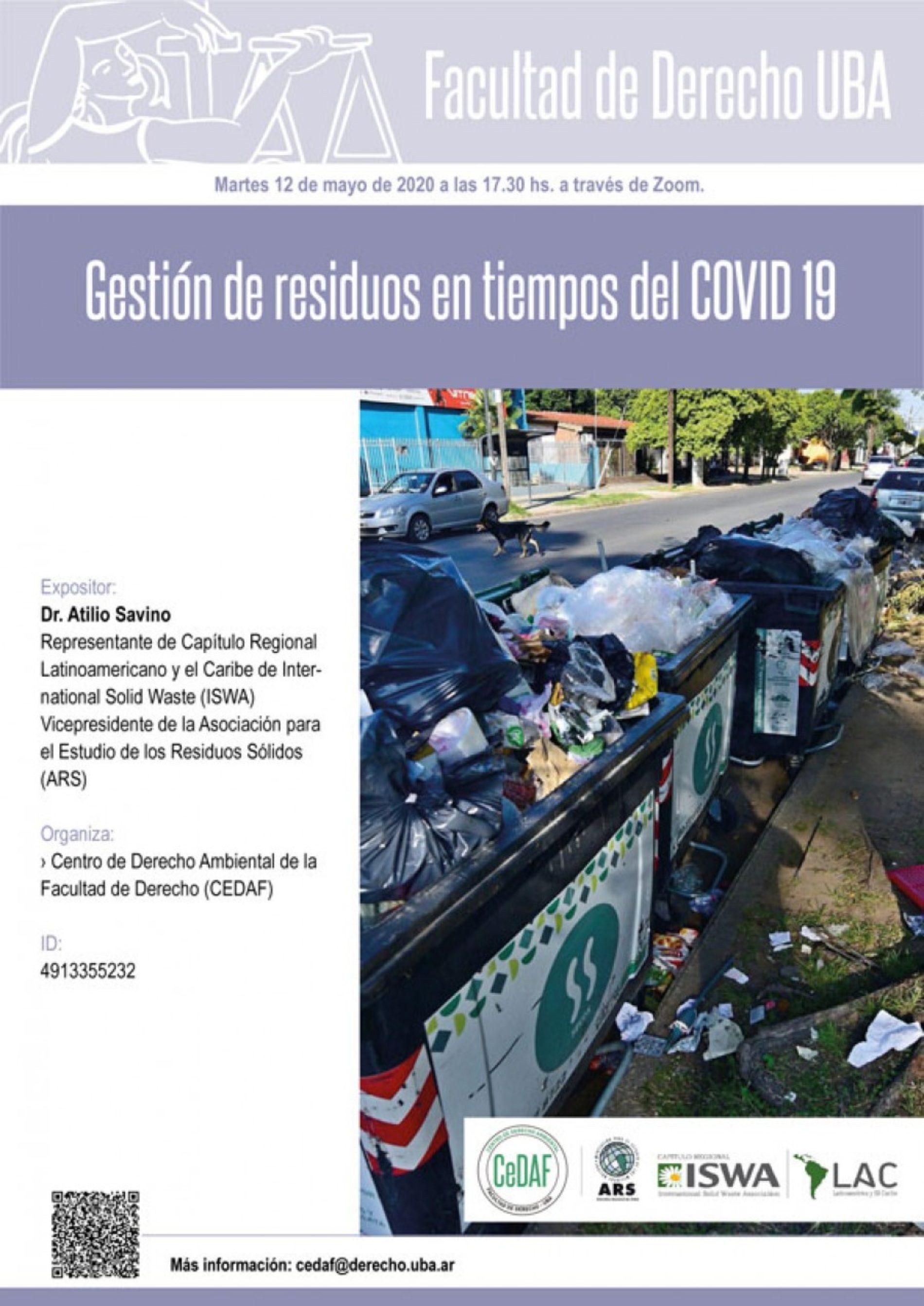 «Gestión de residuos en tiempos del COVID 19»