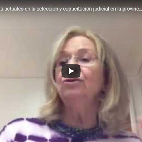 Jornada «Desafíos actuales en la selección y capacitación judicial en la provincia de Buenos Aires»