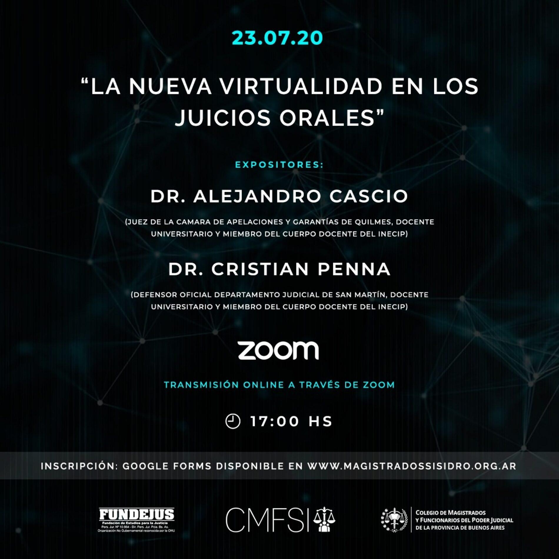 «La nueva virtualidad en los juicios orales»