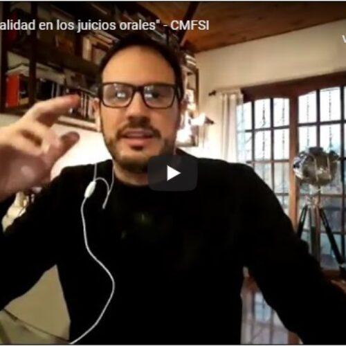 «La nueva virtualidad en los juicios orales» – CMFSI