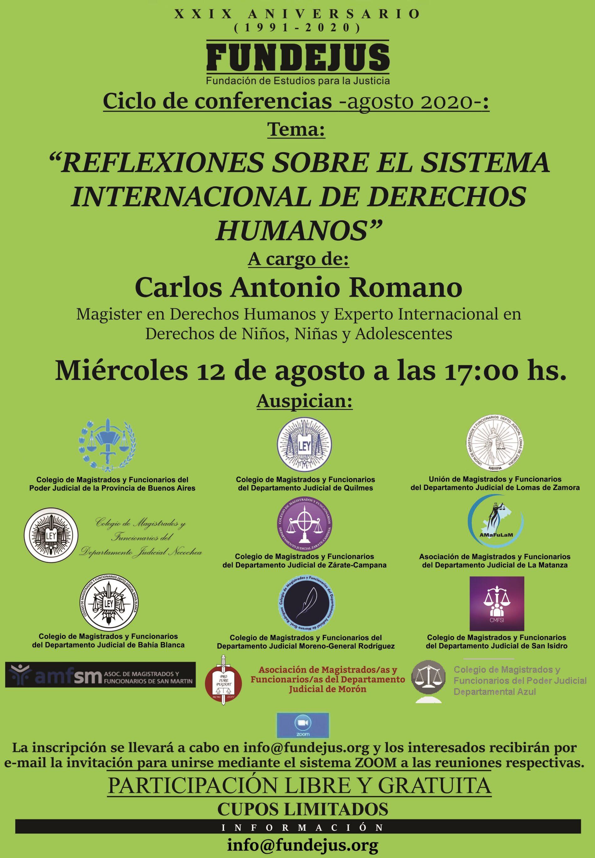 Nueva jornada «Reflexiones sobre el sistema internacional de Derechos Humanos»