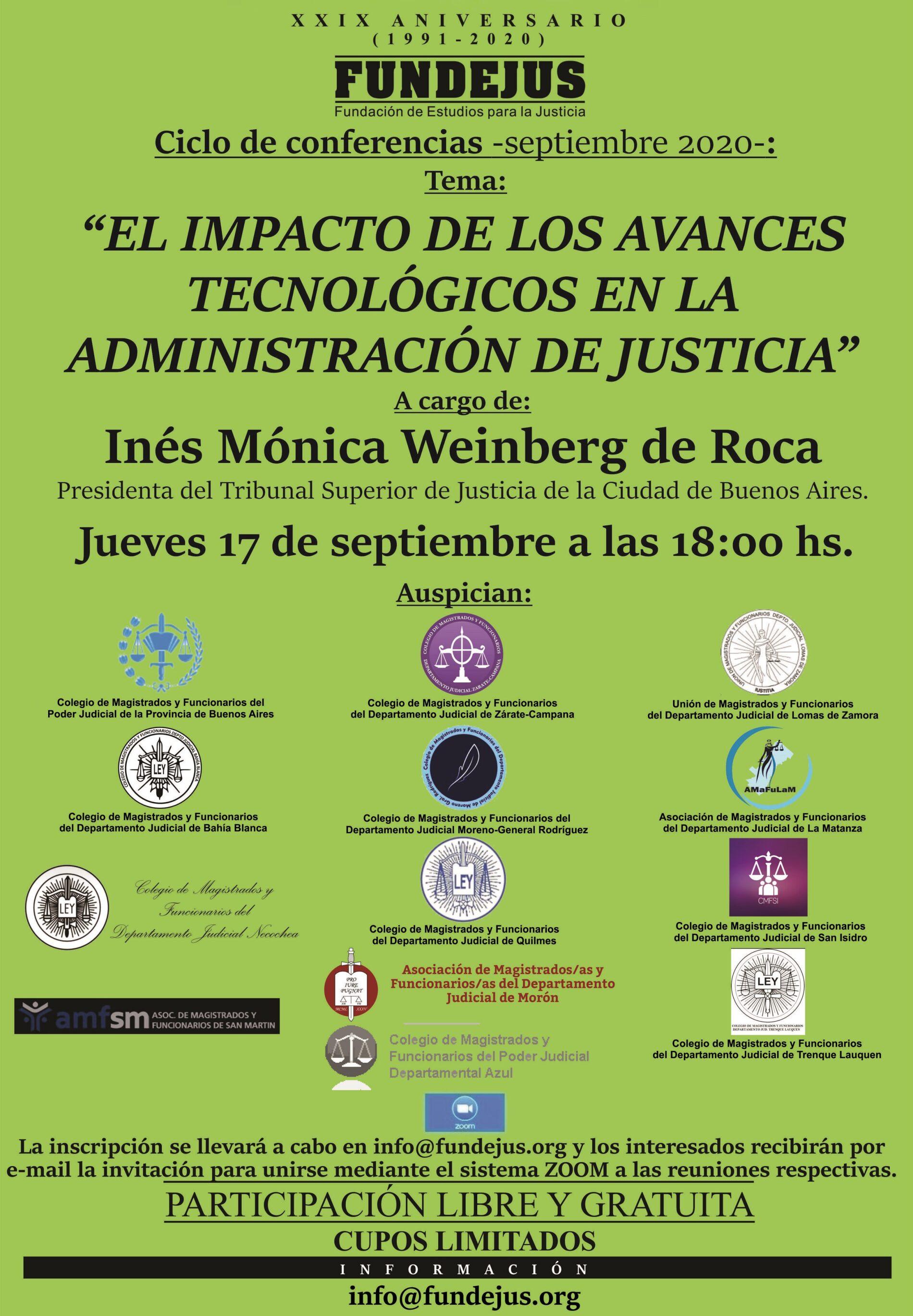 Próxima jornada 17/9: «El impacto de los avances tecnológicos en la administración de Justicia»