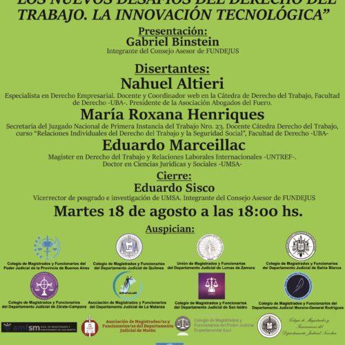 Próxima jornada «Los nuevos desafíos del Derecho del Trabajo. La innovación tecnológica»