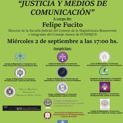 Próxima jornada 2/9: «Justicia y medios de comunicación»
