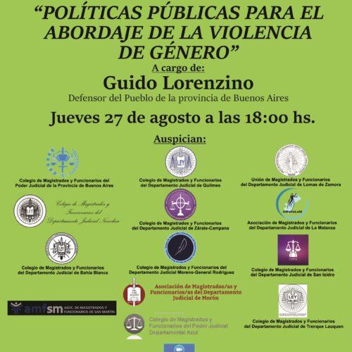 Próxima jornada «Políticas públicas para el abordaje de la violencia de género»