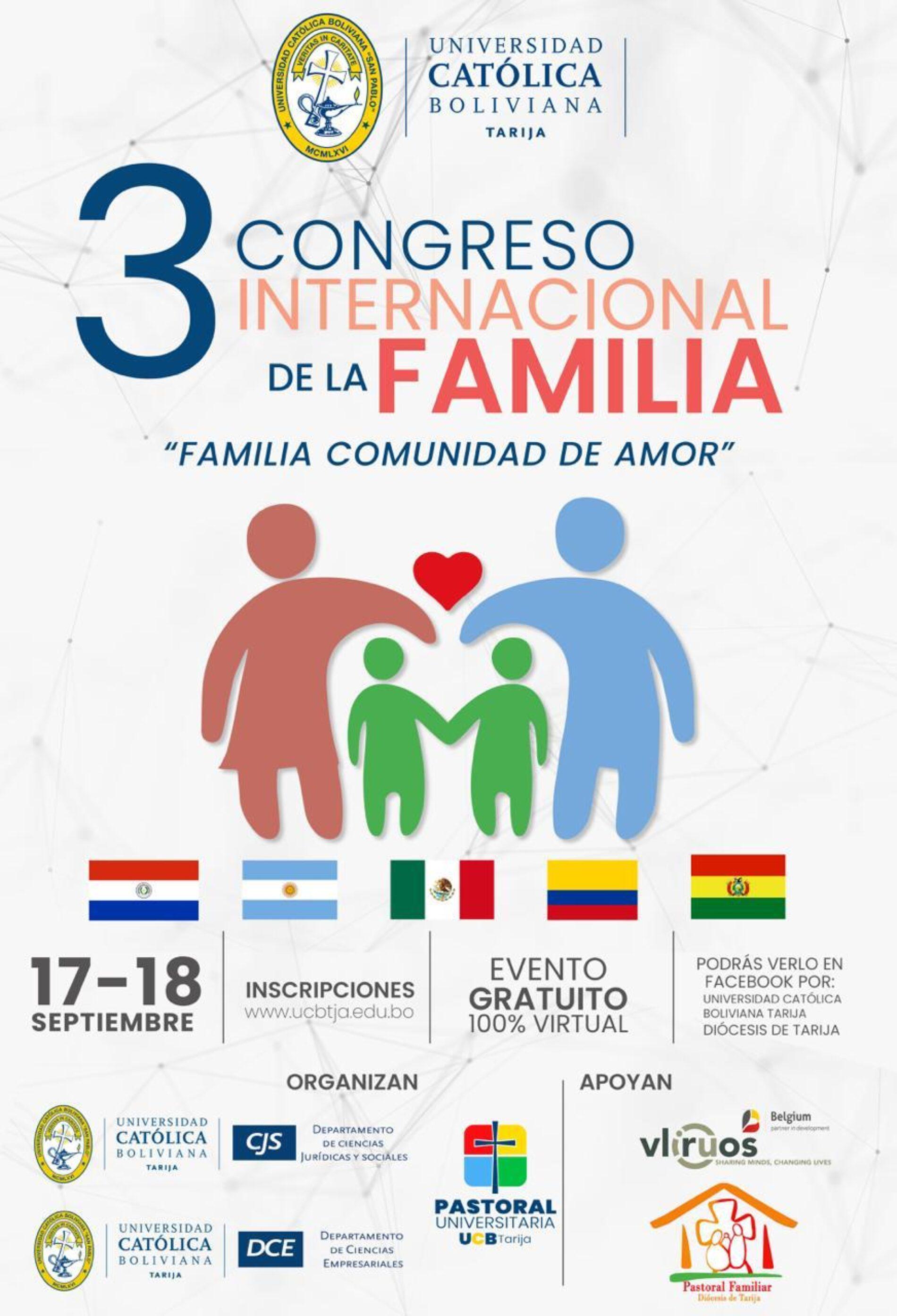 3º CONGRESO INTERNACIONAL DE LA FAMILIA. «Familia comunidad de amor»